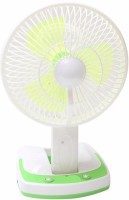 View ShopyBucket Powerful Rechargeable Fan with 21SMD LED lights 3 Blade Table Fan (Multicolor) MDEO-24 USB Fan(Multicolor) Laptop Accessories Price Online(ShopyBucket)