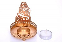 Meenamart Sai Baba Shadow Candle Tea light holder Candle Candle(Gold, Pack of 1) - Price 128 71 % Off