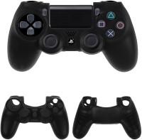 BonZeal Sleeve for PS4 Controller Silicone Cover Case(Black, Silicon)