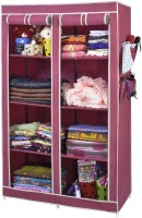 View ARSH AW08-Maroon-High Capacity Upto 70Kgs Carbon Steel Collapsible Wardrobe(Finish Color - Maroon) Furniture (ARSH)