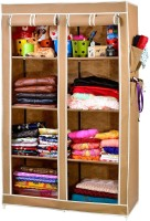 View ARSH AW08-Beige-High Capacity Upto 70Kgs Carbon Steel Collapsible Wardrobe(Finish Color - Beige) Furniture (ARSH)