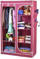 View ARSH AW30-Maroon-High Capacity Upto 70Kgs Carbon Steel Collapsible Wardrobe(Finish Color - Maroon) Furniture (ARSH)