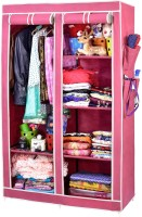 View ARSH AW06-Maroon-High Capacity Upto 70Kgs Carbon Steel Collapsible Wardrobe(Finish Color - Maroon) Furniture (ARSH)