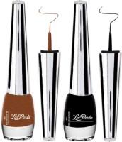 La Perla Laerla Pack Of 2 Sparkeling Eyeliner 5MLx2pc-LE101-Black,Brown 5 g(Black Brown)
