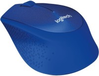 View Logitech M331 SILENT PLUS Wireless Optical Mouse(USB, Blue) Laptop Accessories Price Online(Logitech)