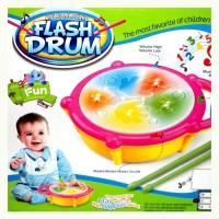 ElectroBot Kids Multicoloured Flash Drum Set With Music and Lights Electronic Touch Flash Visual 3d Lights with 3 game mode & Dynamic Music Toy For Kids and for Return Gift(Yellow)