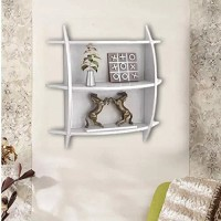 View SG Nice Wooden Wall Shelf(Number of Shelves - 2, White) Furniture (SG)