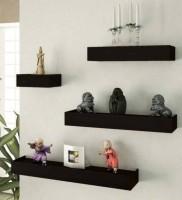 View SG Nice MDF Wall Shelf(Number of Shelves - 4, Black) Furniture (SG)
