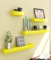 View SG Nice MDF Wall Shelf(Number of Shelves - 4, Yellow) Furniture (SG)
