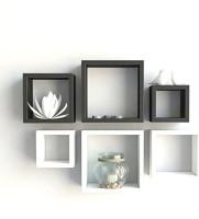 View SG Nice MDF Wall Shelf(Number of Shelves - 6, Black) Furniture (SG)