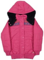 US Polo Kids Full Sleeve Solid Girls Sports Jacket Jacket