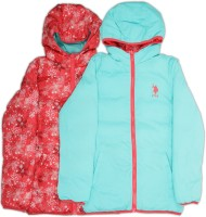 US Polo Kids Full Sleeve Printed Girls Sports Jacket Jacket