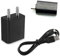 Trost Wall Charger Accessory Combo for Micromax Canvas Juice 2 AQ5001(Black)