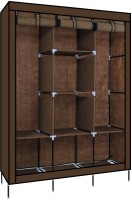 View Fabulo Stainless Steel Collapsible Wardrobe(Finish Color - coffee brown) Furniture