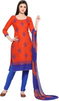 EthnicJunction Cotton Embroidered Salwar Suit Dupatta Material(Unstitched)