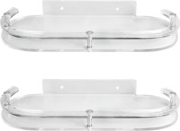 View Admire 12'' Oval Supreme Shelf 2pc Acrylic Wall Shelf(Number of Shelves - 2, Clear) Furniture (Admire)