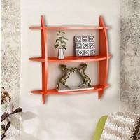 View SG Nice MDF Wall Shelf(Number of Shelves - 1, Orange) Furniture (SG)