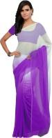 Aruna Sarees Solid Fashion Chiffon Saree(Multicolor)