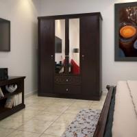 HomeTown Astra Solid Wood 4 Door Wardrobe(Finish Color - Wenge)