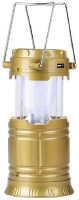 View Mantavya Solar Camping Lantern Light with Power Bank Tent LED Lamp Emergency Lights(Gold) Home Appliances Price Online(Mantavya)