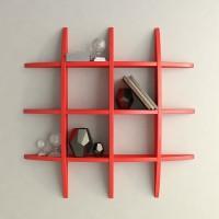 View TECH DECOR Wall Shelf Rack Globe Shape Storage Wooden Wall Shelf(Number of Shelves - 6, Red) Furniture (tech decor)