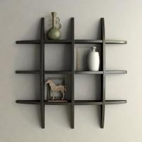 View TECH DECOR Wall Shelf Rack Globe Shape Wooden Wall Shelf(Number of Shelves - 6, Black) Furniture (tech decor)