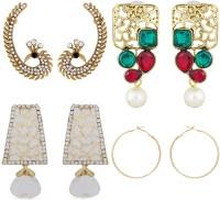 Luxor Charming Diamond Alloy Earring Set, Cuff Earring, Stud Earring, Drop Earring, Hoop Earring