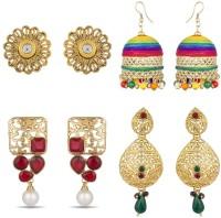 Luxor Fusion Latest Earrings Diamond Alloy Earring Set, Stud Earring, Jhumki Earring, Chandelier Earring