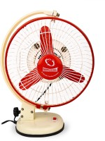View Summercool Stormy 3 Blade Table Fan(Beige With Red) Home Appliances Price Online(Summercool)