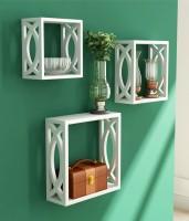 View khan handicrafts A01 MDF Wall Shelf(Number of Shelves - 3, White) Furniture (Khan Handicrafts)