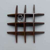 View TECH DECOR Wall Shelf Rack Globe Shape Wooden Wall Shelf(Number of Shelves - 6, Brown) Furniture (tech decor)