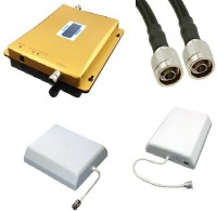 Lintratek 900-1800Mhz Dual Band Mobile Cell Phone Booster Router(Yellow)