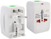 Shrih Universal Travel Plug Worldwide Adaptor(White)