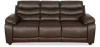 View @home by Nilkamal Leather 3 Seater(Finish Color - Brown) Furniture