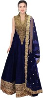 Caffoy Cloth Company Cotton Silk Blend Embroidered Semi-stitched Salwar Suit Dupatta Material