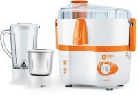 Orient Electric JM5003F 450 W Juicer Mixer Grinder(White and Orange, 2 Jars)