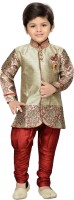 AJ Dezines Boys Sherwani and Churidar Set(Pack of 1)