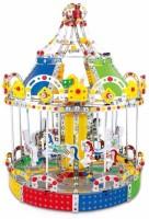 shunji DIY carousel(wind up with music)(Multicolor)