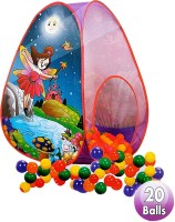 HALO NATION Play Tent House Magic Ball Pool Pop-Up For Kids Toy Picnic Hut, 20 Balls Included(Multicolor)