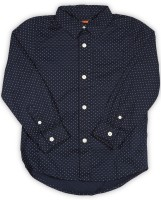 The Children's Place Boys Printed Casual Blue Shirt