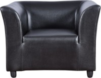 View Cloud9 Tyson Leather 1 Seater(Finish Color - Black) Furniture (Cloud9)