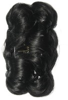 Ritzkart Funky Bun 4 Inch Hair Extension With Clutche Bun(Black) - Price 455 77 % Off