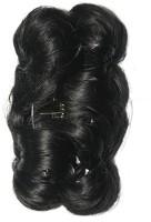 Ritzkart Funky Bun 4 Inch Hair Extension With Clutche Bun(Black) - Price 455 77 % Off
