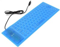 View NewveZ durReey Silicone Rubber Waterproof Flexible Keys Wired USB Laptop Keyboard(Blue) Laptop Accessories Price Online(NewveZ)