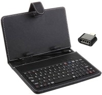 "De Techinn Combo Of Micro USB OTG Adapter And 7"" Inch Android Wired USB Tablet Keyboard(Multicolor)"