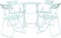 View Häuser Mint Metal Table & Chair Set(Finish Color - Mint) Furniture (Häuser)