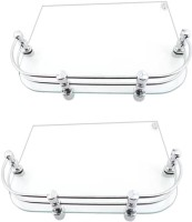 View Glowhite Set of 2,Set Top Box Glass Wall Shelf(Number of Shelves - 2, Clear) Furniture (Glowhite)
