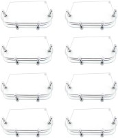 View Glowhite Set of 8,Set Top Box Glass Wall Shelf(Number of Shelves - 8, Clear) Furniture (Glowhite)