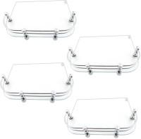 View Glowhite Set of 4,Set Top Box Glass Wall Shelf(Number of Shelves - 4, Clear) Furniture (Glowhite)