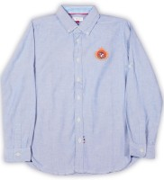 US Polo Kids Boys Solid Casual Button Down Shirt